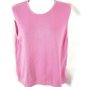 Lilly Pulitzer KNIT TANK SWEATER Top Large pink